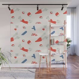 Minimal retro pattern with carrot&celery Wall Mural