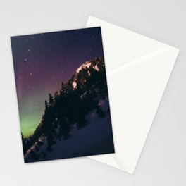 Deer Mountain Northern Lights Stationery Cards