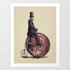 Penny Farthing  Art Print