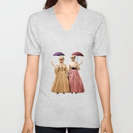 Two Pretty Kitties: Out for a Stroll Unisex V-Neck