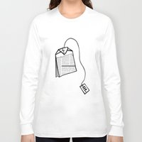 literary Long Sleeve T-shirts featuring Literary Tea by Lizzi Davis