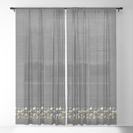 Parrots Sheer Curtain