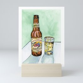 Kirin Beer and Glass Mini Art Print