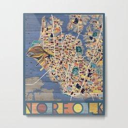Norfolk, Virginia Hometown Metal Print