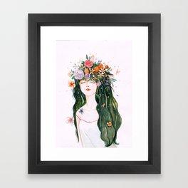 flower hair Framed Art Print