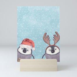 CHRISTMAS PENGUINS Mini Art Print