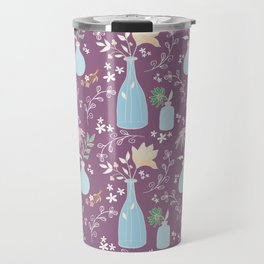 Apothecary Wildflowers in Purple Travel Mug
