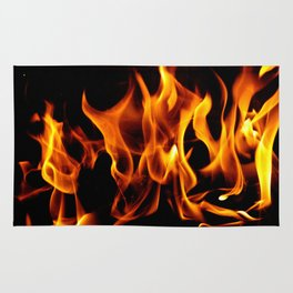 Fire Flames Dancing  Rug