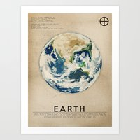 earth Art Prints featuring Earth by Heather Landis