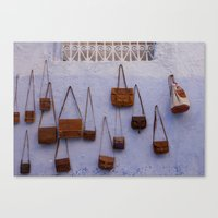 leather Canvas Prints featuring Leather by Marie von Hafften