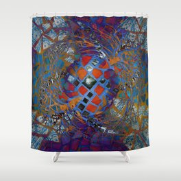 Mosaic Abstract Shower Curtain