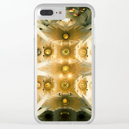 Sagrada Familia (ceiling), Barcelona, Spain Clear iPhone Case