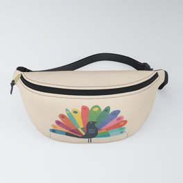 Whimsical Peacok Fanny Pack