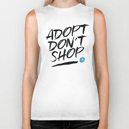 Adopt Don't Shop Biker Tank