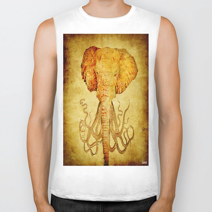 The elephant who wanted to be an octopus Biker Tank