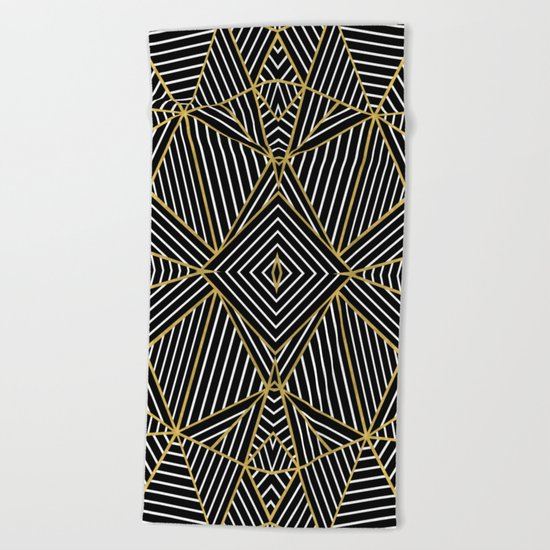 Ab Half Gold Beach Towel