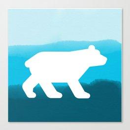 Inverted Blue Bear - Wildlife Series Canvas Print