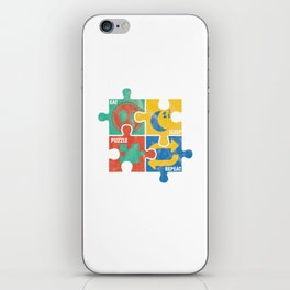Eat Sleep Jigsaw Puzzle Repeat Puzzler Brain Teaser Paradox Games Gift iPhone Skin