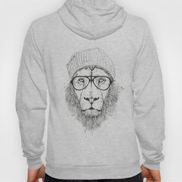 Cool lion (bw) Hoody