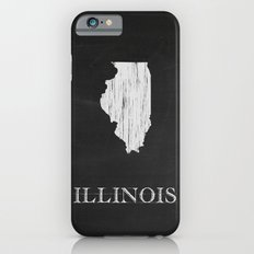 Illinois State Map Chalk Drawing Slim Case iPhone 6s