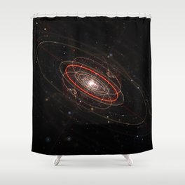 Space & Particles - GodEye 02 Shower Curtain