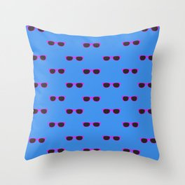 Glasses, blue Throw Pillow