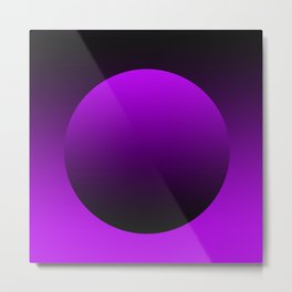 Purple circle tote bag Metal Print