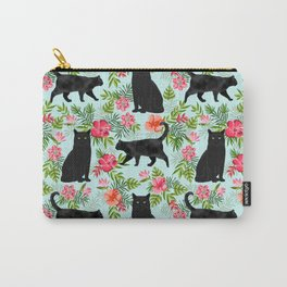 Black cat hawaiian cat breeds cat lover pattern art print cat lady must have Carry-All Pouch