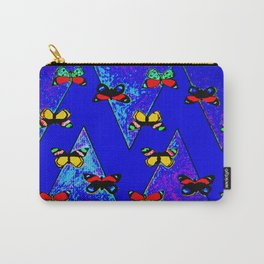Bright Butterfly Pattern Print Carry-All Pouch