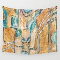 southwest Wall Tapestries featuring Southwest Desert by Moody Muse