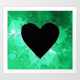 Elegant watercolor splash heart Art Print