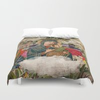 madonna Duvet Covers featuring Saints Collection -- Madonna And Child by Elo Marc