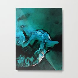 Dissolving Turquoise Cat Metal Print