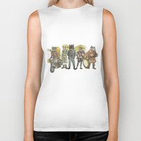 steampunk Biker Tanks featuring Steampunk  by Felis Simha