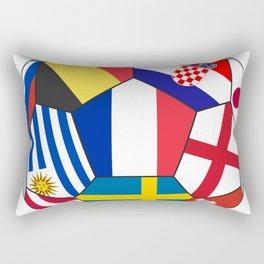 Football ball with various flags - semifinal and final Rectangular Pillow