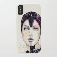 fashion illustration iPhone & iPod Cases featuring Fashion illustration  by Ioana Avram