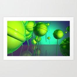 Toxic Lollipop Art Print