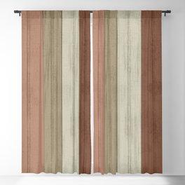 Earth tone Stripe Wood Pattern Blackout Curtain
