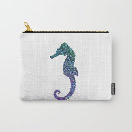 SEAHORSE GLITTER Carry-All Pouch