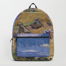 Vincent van Gogh - Wheat Fields with Reaper, Auvers (1888) Backpack