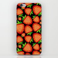 strawberry iPhone & iPod Skins featuring Strawberry by LaDa