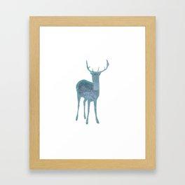Holiday deer 1- Holidaze Framed Art Print