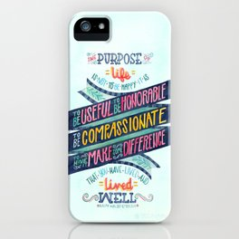 The Purpose of Life iPhone Case