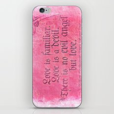 Love is a Devil - Shakespeare Love Quote Art iPhone & iPod Skin