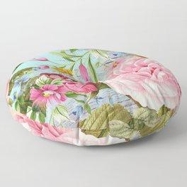 Vintage Flowers #6 Floor Pillow