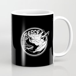 Fierce French Bulldog. Blk. Coffee Mug