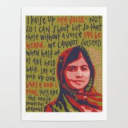 Malala Yousafzai. Poster