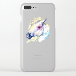 Watercolor Hourse Clear iPhone Case