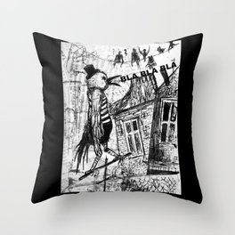 bla,bla,bla Throw Pillow