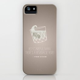 The Big Lebowski White Russian iPhone Case